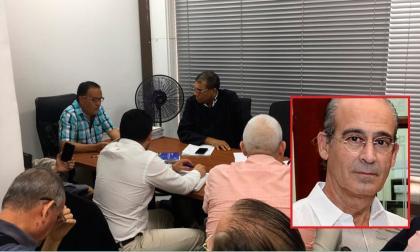 Aspecto de la audiencia virtual en contra de Edmundo Rodríguez (en el recuadro).