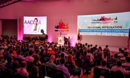 Encuentro internacional realizado por AmCham en mayo de 2019 en Barranquilla.