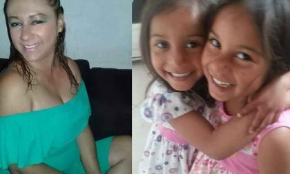 Katherine Pérez Torres y las gemelas desaparecidas Allyson y Molly Mantilla Pérez, cuya foto es publicada con la autorización de su familia materna.