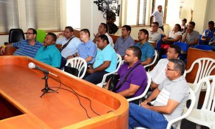 Algunos concejales durante las audiencias.