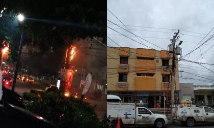 En video   Explosión de transformador en norte de Barranquilla causa pánico