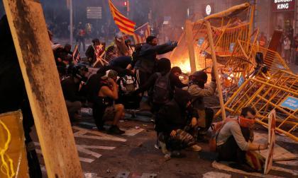 Imagen de los disturbios en Cataluña.