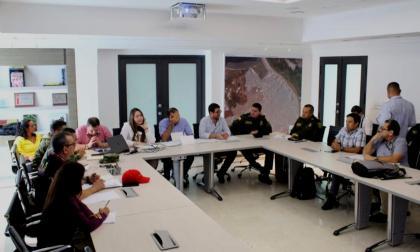 Aspecto de la reunión de seguridad electoral.