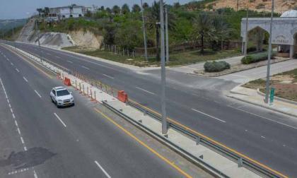 Aspecto de un tramo de la vía Barranquilla-Cartagena.