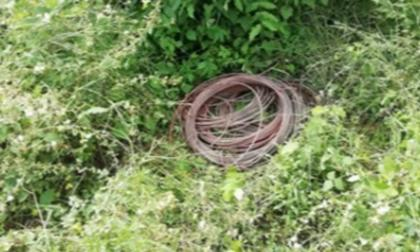 Los cables recuperados por miembros de la Policía del Atlántico.