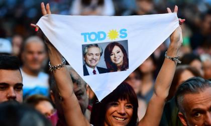 Una seguidora del partido de izquierda argentino y de la candidatura el Frente de Todos que lideraron Alberto Fernández y Cristina Kirchner.
