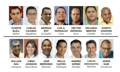 Estos son los nuevos gobernadores y alcaldes de la Costa