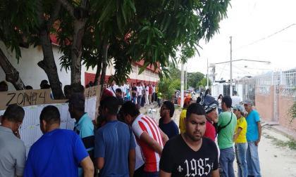 Trancones y simbolismos durante la jornada de elecciones en El Hipódromo de Soledad