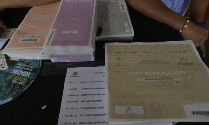 Tarjetones electorales. Imagen de referencia.