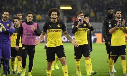 Borussia Dortmund celebrando la victoria de este martes.