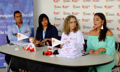 Aspecto general del lanzamiento de la programación del mes de la no violencia contra la mujer.