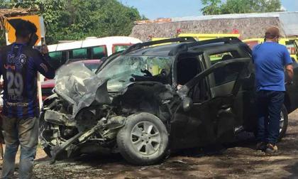En video | Padre de Claudia Bahamón pierde la vida en accidente de tránsito en vías de Bolívar