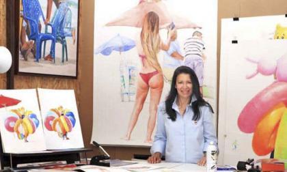Rosario Heins en su taller de pintura en Montpellier.