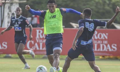 James Sánchez en un entrenamiento del Junior.