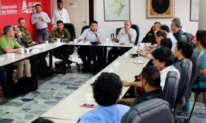 Aspecto del comité de garantía que se realizó el miércoles en la sala de juntas de la Gobernación del Atlántico.