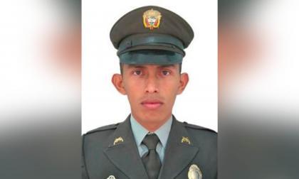 Luis Fernando Salazar, policía fallecido.