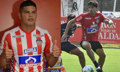 El delantero venezolano Edder Farías y el volante chileno Matías Fernández.