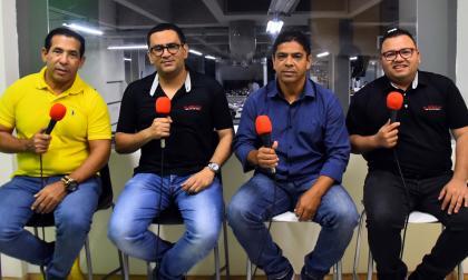 Hugo Urruchurto, Marquinho, Rafael Castillo y Rosember Anaya en el programa 'En la jugada'.