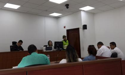 Aspecto de la diligencia judicial en el Centro de Servicios Judiciales de Barranquilla.