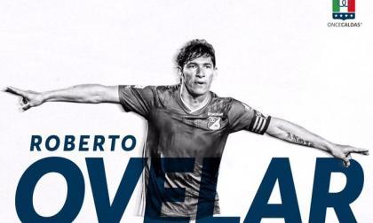 Once Caldas anunció la contratación de Roberto Ovelar a través de una publicación en sus redes sociales con esta imagen.