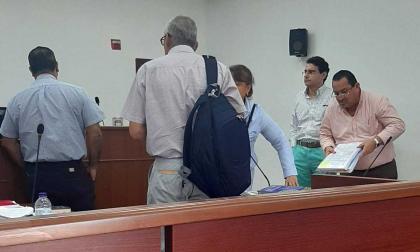 La audiencia fue en la sala 7 del Centro de Servicios con la presencia de Vargas.