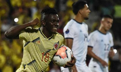 Edwuin Cetré, atacante de Junior, una de las cartas de gol de Colombia.