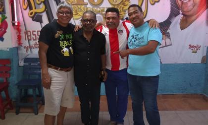 Carlos Ramos, José Mangual Jr., Ricardo Pérez y Milton Figueroa, hijo del fallecido Ralphy 100.