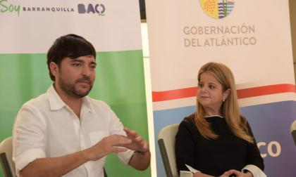 Jaime Pumarejo, alcalde de Barranquilla, junto a Elsa Noguera, gobernadora del Atlántico.