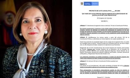 Ministra de Justicia, Margarita Cabello (Izq.); borrador de la reforma a la justicia.