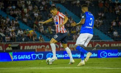 El delantero barranquillero Teófilo Gutiérrez en el partido ante el Once Caldas el pasado domingo, en el estadio Metropolitano.