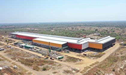 Panorámica de la planta de Ternium ubicada en Palmar de Varela.