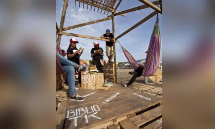 La Biblio-TK de Puerto Mocho, primera al aire libre en el Caribe colombiano