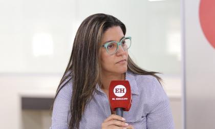Catalina Ucros, secretaria de Educación del Atlántico, durante la entrevista con EL HERALDO.