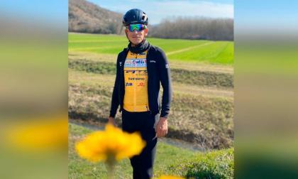 El ciclista Nelson Soto cuando compitió en Porec, Croacia.
