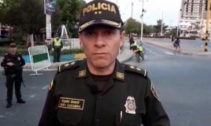 Coronel Henry Sanabria, comandante de Policía de Cartagena.