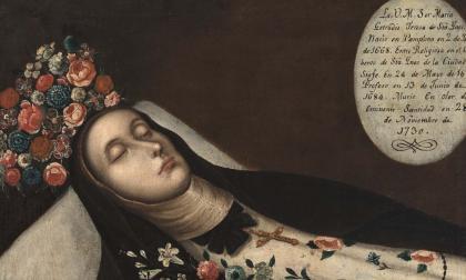 Dominica Sor María Gertrudis Teresa de Santa Inés 'El Lirio de Bogotá', monja retratada tras su muerte.