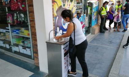Alcaldía de Sabanalarga instala lavamanos portátiles para prevenir el contagio del COVID- 19
