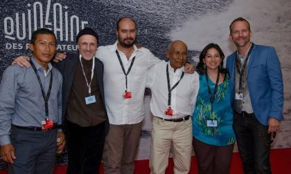 Nilbio Torres, Jan Bijvoet, Ciro Guerra, Antonio Bolivar, Cristina Gallego y Brionne Davis.