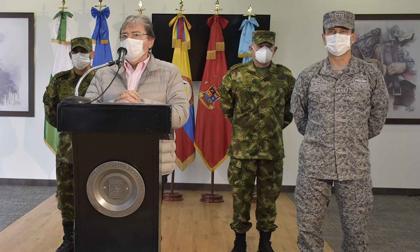 Ministro de Defensa durante las declaraciones.