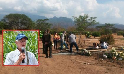 El sepelio de Alejandro Llinás, líder de la Sierra Nevada asesinado en zona rural de Santa Marta.