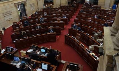 Durante la sesión de la plenaria de la Cámara en la que se aprobó el proyecto.