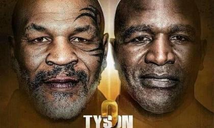 El afiche del duelo entre Tyson y Holyfield que ha venido circulando en redes sociales.