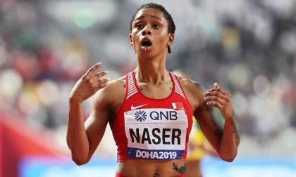 La bahrainí Salwa Eid Naser, campeona mundial de 400 metros y reina de los Mundiales de Doha 2019.