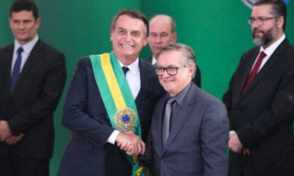 Jair Bolsonaro junto a Abraham Weintraub.