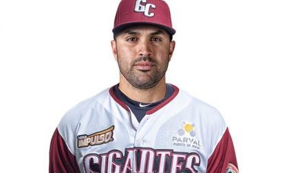 Luis Felipe 'Pipe' Urueta con el uniforme de su nuevo equipo en República Dominicana.