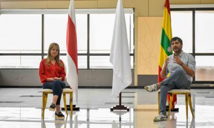 La gobernadora del Atlántico, Elsa Noguera y el alcalde de Barranquilla, Jaime Pumarejo