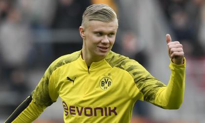 Haaland, delantero noruego del Borussia Dortmund.