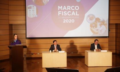 Los viceministros de Hacienda Juan Pablo Zárate y Juan Alberto Londoño.