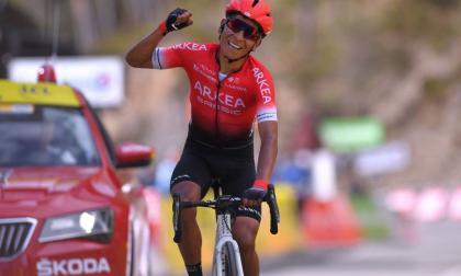 Nairo Quintana en acción durante una competencia.