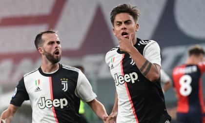 Dybala celebra su gol contra el Genoa.